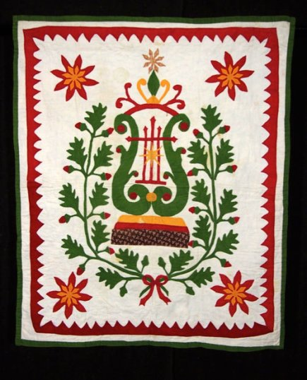 Applique Cradle Quilt The Pat and Arlan Christ Collection